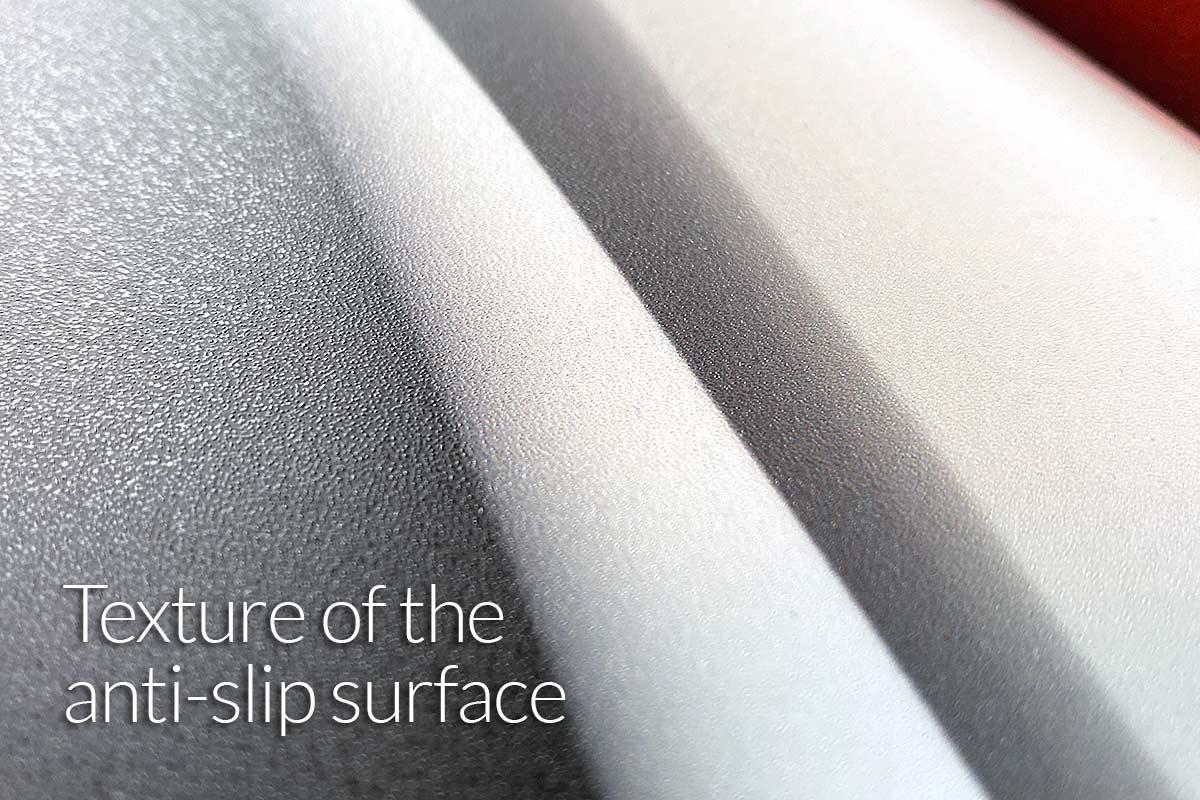 Footboard skin texture