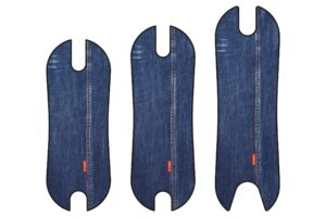 Footboard with Jeans pattern