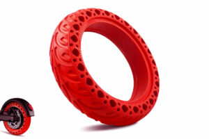 Honeycomb Tire red